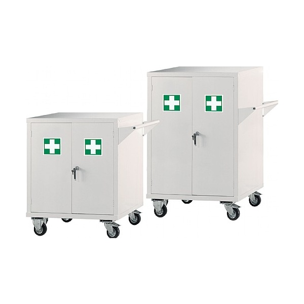 Mobile First Aid Storage Cupboards