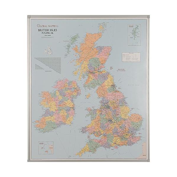 Busyboard UK County Boundaries Map