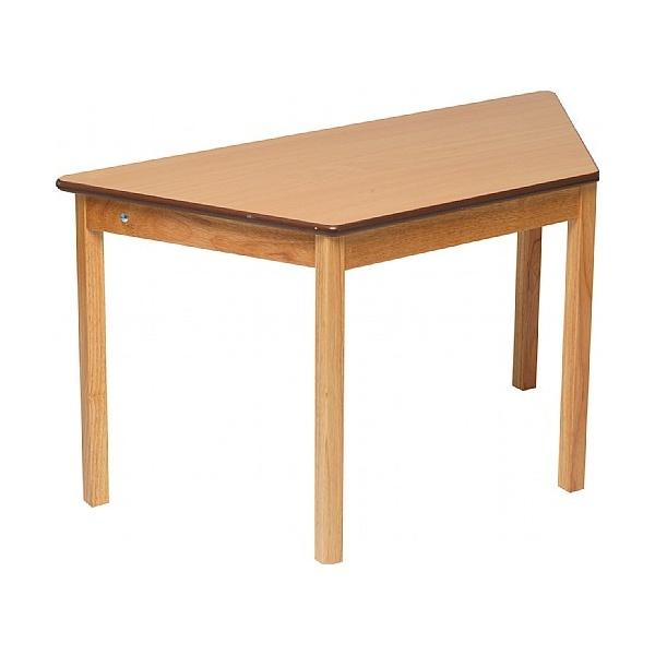 Trapezoidal Classroom Grouping Table Beech