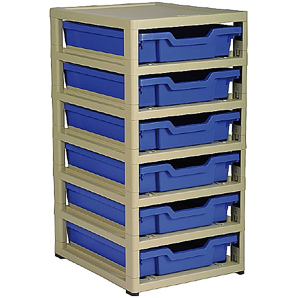 Gratstack Single Column Unit With 6 Shallow Trays