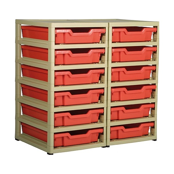 Gratstack 2 Column Unit With 12 Shallow Trays
