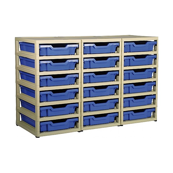 Gratstack 3 Column Unit With 18 Shallow Trays