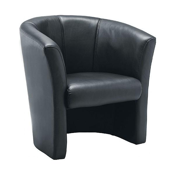 Renoir Leather Look Tub Chair