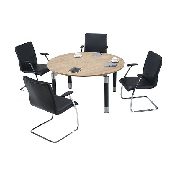 Trilogy Round Solo Boardroom Tables