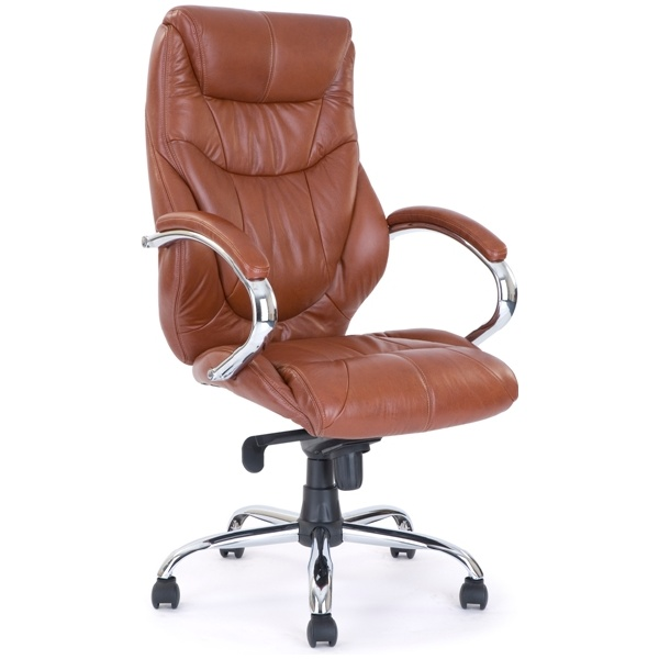 Geneva Leather Manager Chair Tan