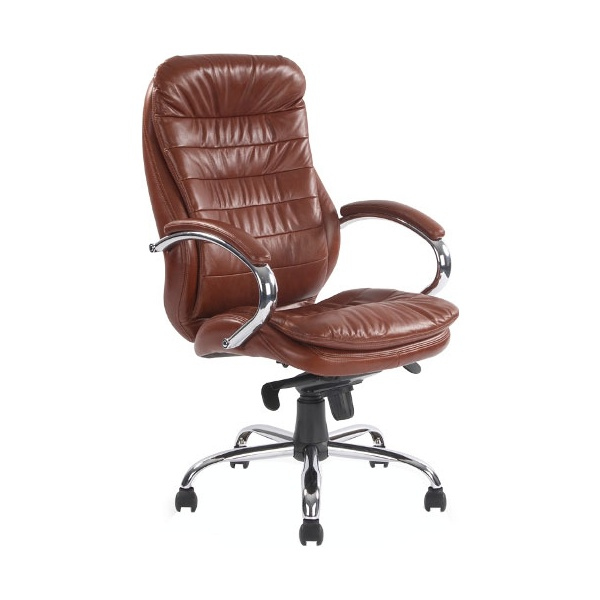 Prague Leather Manager Chair Tan