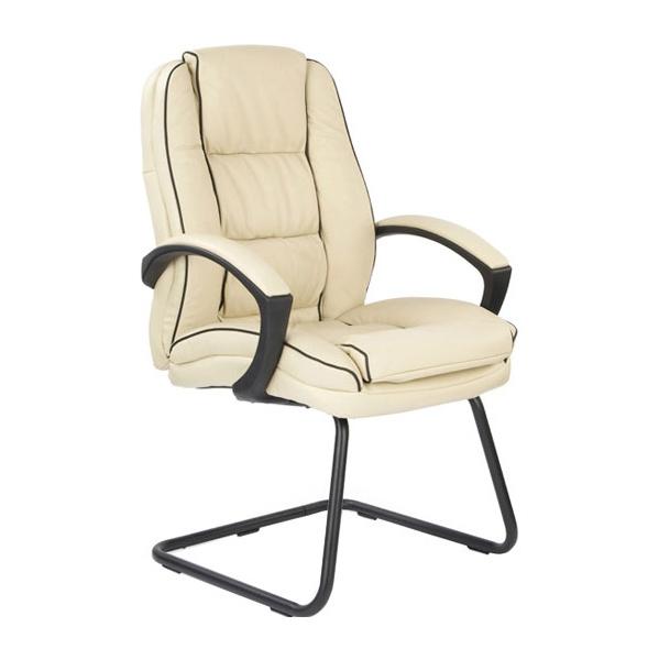 Cream Venus Leather Visitor Chair