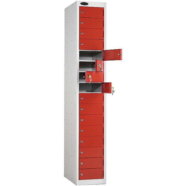 Multi Compartment Lockers With Active Coat