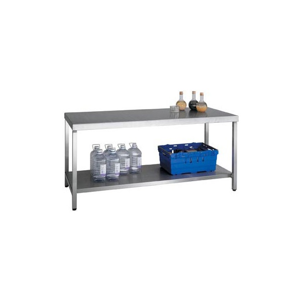 HD SS Bench With Shelf