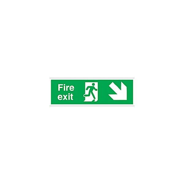 Fire Exit Right Diagonal Down Arrow