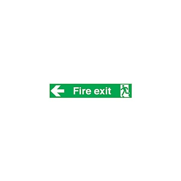 Wide Fire Exit Left Arrow