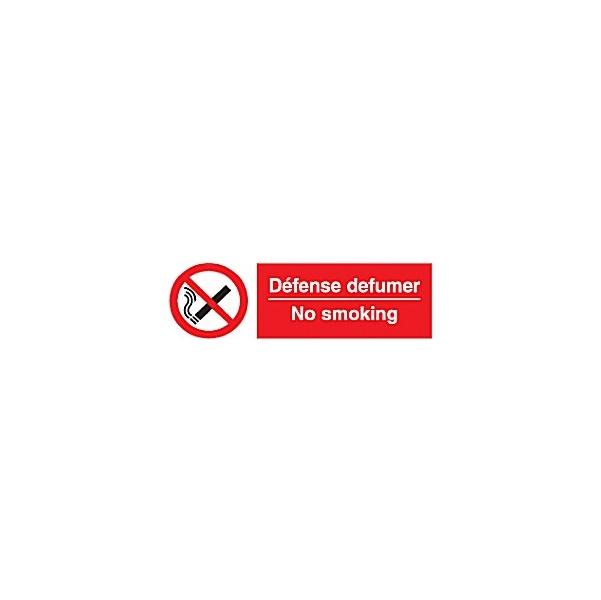 No Smoking/Defense Defumer Sign