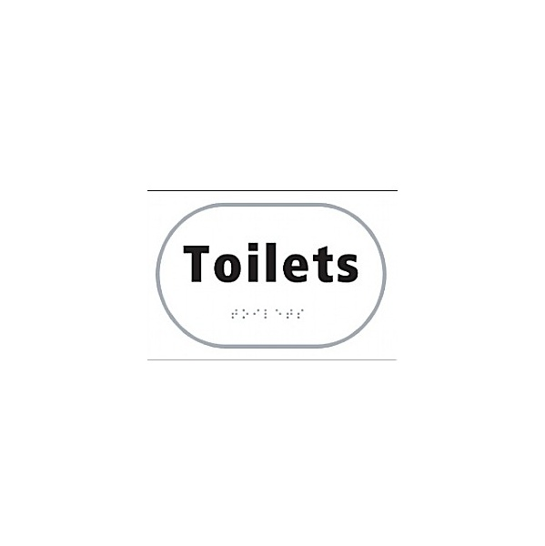 Braille Toilets Sign