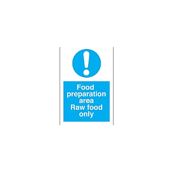 Food Preperation Area Raw Food Only Sign