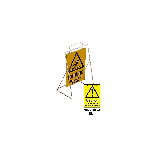 Caution Slippery Floor Surface Swing Sign