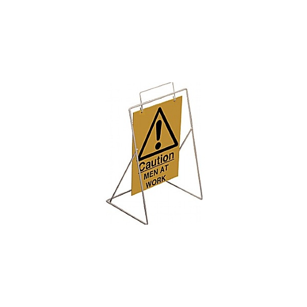 Caution Men At Work Swing Sign