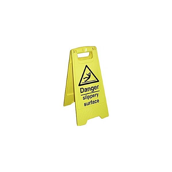 Danger Slippery Surface Floor Sign