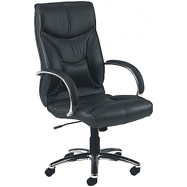 Whist Leather Faced Manager Chair