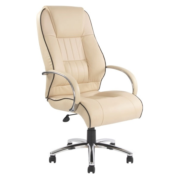 Toulouse Cream Leather Manager Chair