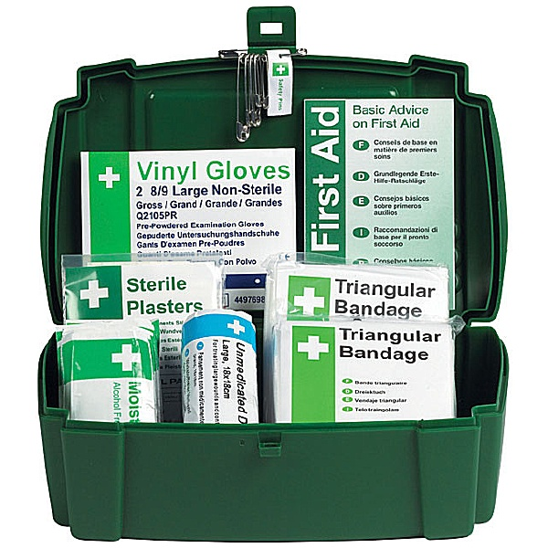 Travel First Aid Kit In Plastic Case