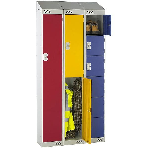 Sloping Top Metric Lockers With Biocote