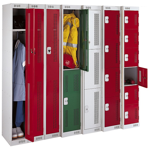 Perforated Door Metric Lockers With Biocote