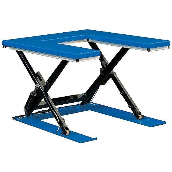 U Shape Low Profile Static Scissor Lift Table