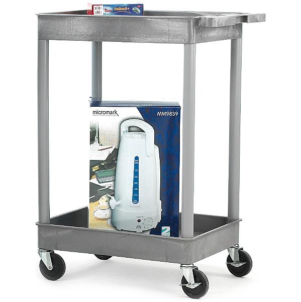 2 Shelf Deep Tray Service Trolley