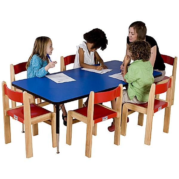Adjustable Height Rectangular Top Table