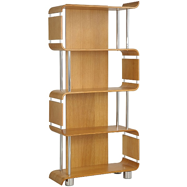 Spectrum Real Wood Veneer Bookcase Oak