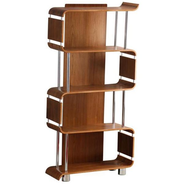 Spectrum Real Wood Veneer Bookcase Walnut