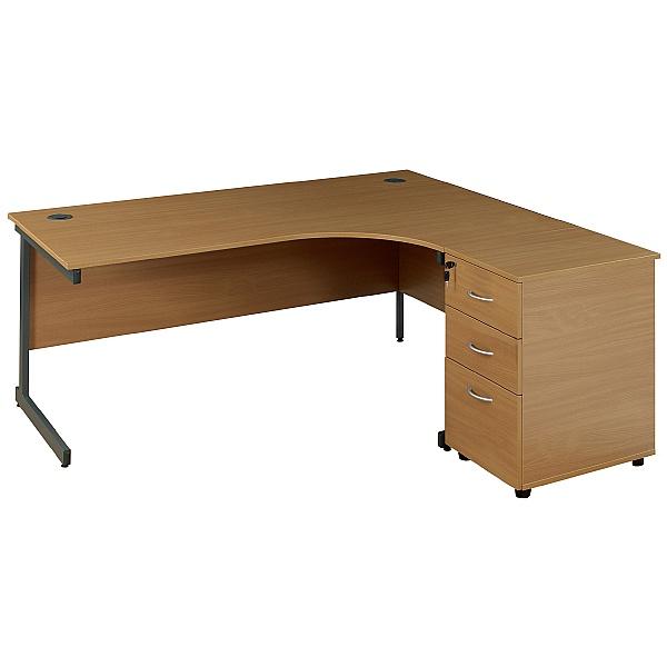 Solar Ergonomic Cantilever Desks With Desk High Pe