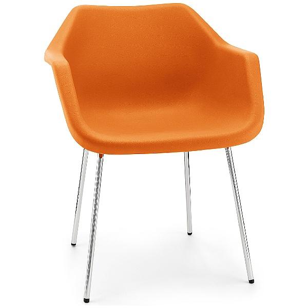 Hille Robin Day Retro Polypropylene Chair Orange