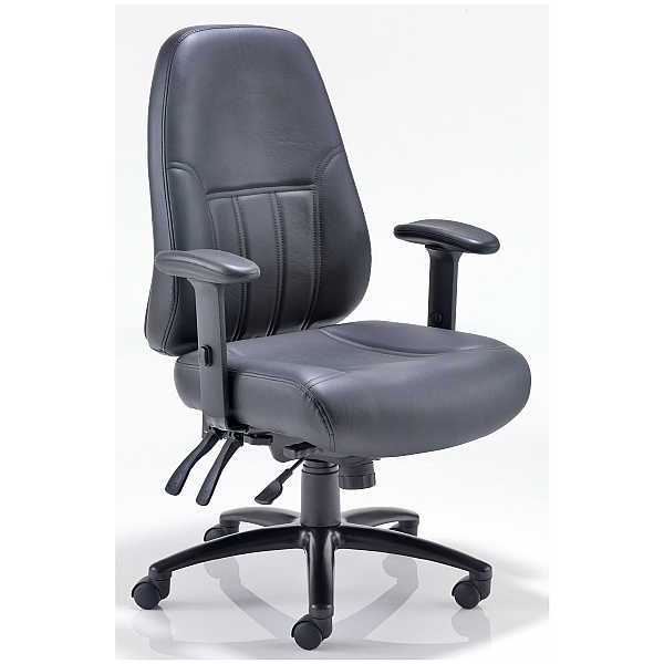 Lynx 24 Hour Leather Faced Manager Chair