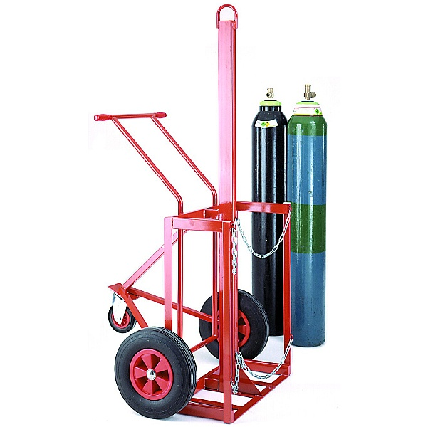 Double Cylinder Lifting Trolley