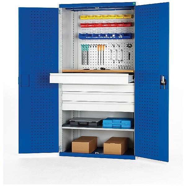 Bott Cubio Workshop Cupboards - 1 Shelf/4 Drawers