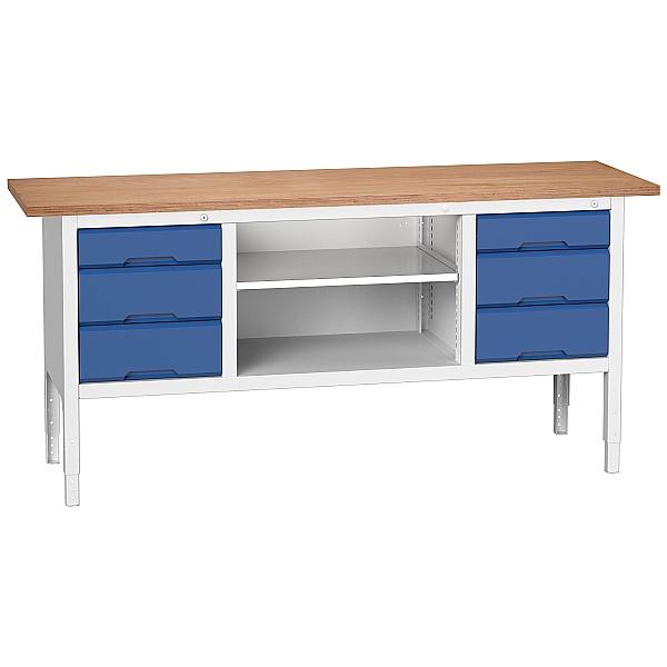 Bott Verso Benches - Storage Bench 2000W 6 Drawers