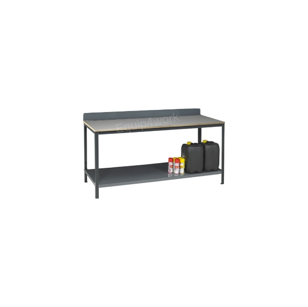 Redditek Heavy Duty Engineering Workbench with Shelf and Rear Lip