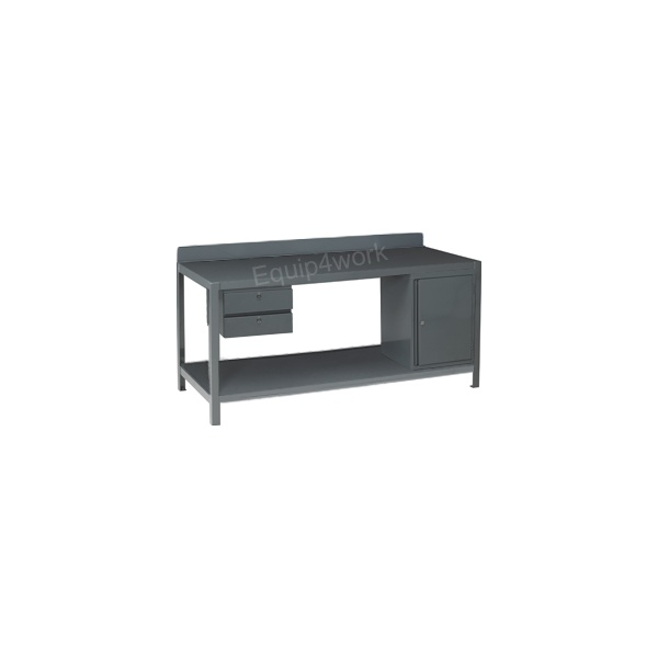 Redditek Extra Heavy Duty Engineering Workbench with Shelf and Lip