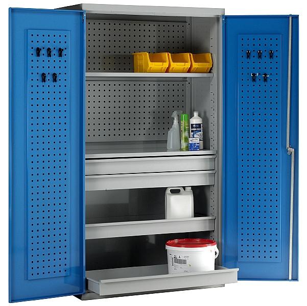 Redditek Double Door Euro Cabinet with Shelves