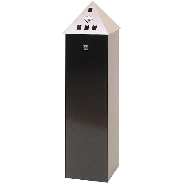 Pyramid Top Floor Standing Cigarette Bin