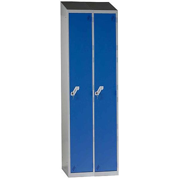 Fully Welded Narrow Sloping Top 1 Door Lockers