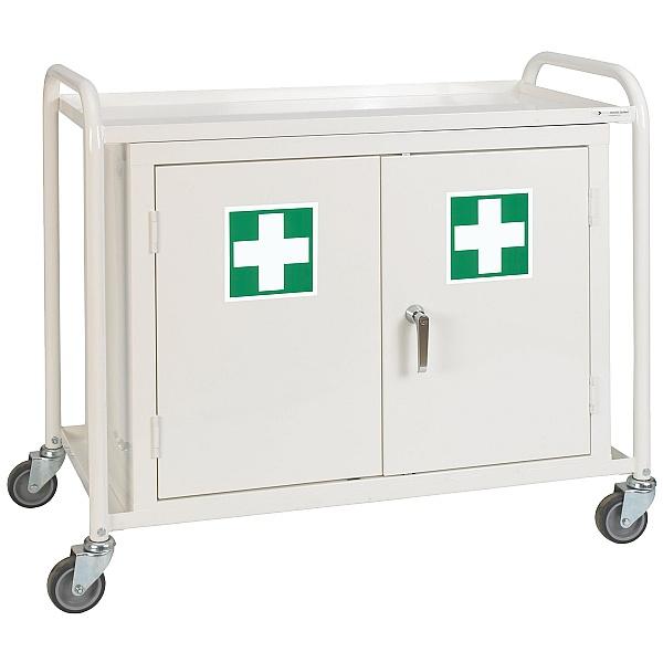 Double Cupboard Medical Trolley