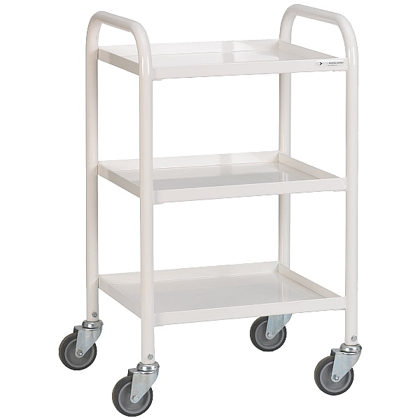 3 Shelf Narrow Medical Trolley