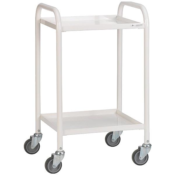 2 Shelf Narrow Medical Trolley