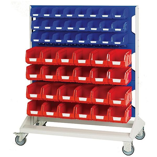 Bott Mobile Perfo Panel Rack With 96 Bins