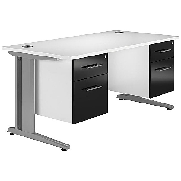 NEXT DAY Distinct Cantilever Rectangular Desks With Double Fixed Pedestals