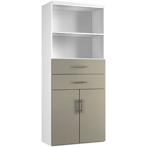 NEXT DAY Reflections Double Door Combination Cupboards With Drawers And Shelves