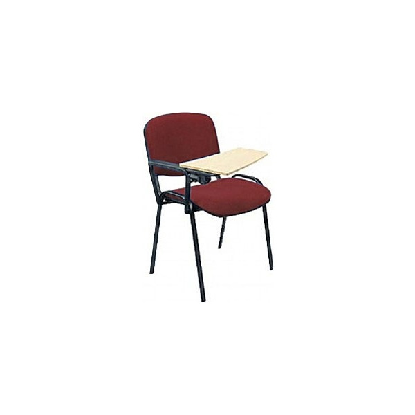 Swift Black Frame Conference Chairs With Wooden Writing Tablet (4 Pack)