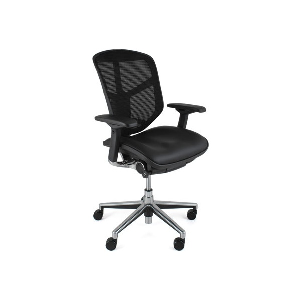 Enjoy Mesh & Leather Office Chairs (Without Headrest)